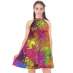 Fun,fantasy And Joy 5 Halter Neckline Chiffon Dress