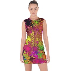 Fun,fantasy And Joy 5 Lace Up Front Bodycon Dress