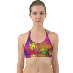Fun,fantasy And Joy 5 Back Web Sports Bra