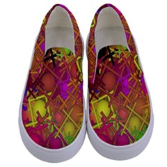 Fun,fantasy And Joy 5 Kids  Canvas Slip Ons