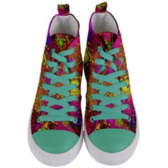 Fun,fantasy And Joy 5 Women s Mid Top Canvas Sneakers