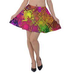 Fun,fantasy And Joy 5 Velvet Skater Skirt