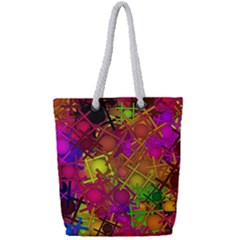 Fun,fantasy And Joy 5 Full Print Rope Handle Tote (small)