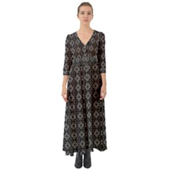Medgray Orchid Button Up Boho Maxi Dress