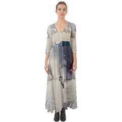 Portal Gifted Streets Button Up Boho Maxi Dress