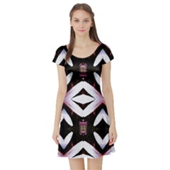 Japan Is A Beautiful Place In Calm Style Short Sleeve Skater Dress