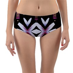 Japan Is A Beautiful Place In Calm Style Reversible Mid Waist Bikini Bottoms