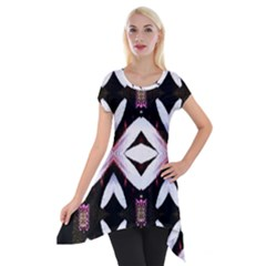 Japan Is A Beautiful Place In Calm Style Short Sleeve Side Drop Tunic