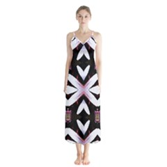 Japan Is A Beautiful Place In Calm Style Button Up Chiffon Maxi Dress