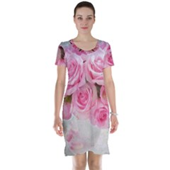 Pink Roses Short Sleeve Nightdress