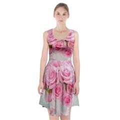 Pink Roses Racerback Midi Dress