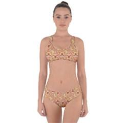 Universe Pattern Criss Cross Bikini Set