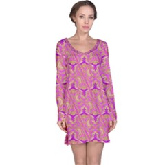 Universe 1 Pattern Long Sleeve Nightdress