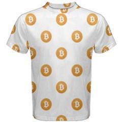 Bitcoin Logo Pattern Men s Cotton Tee