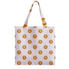 Bitcoin Logo Pattern Grocery Tote Bag