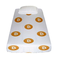 Bitcoin Logo Pattern Fitted Sheet (single Size)