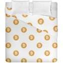 Bitcoin Logo Pattern Duvet Cover Double Side (California King Size) View1
