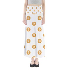 Bitcoin Logo Pattern Full Length Maxi Skirt