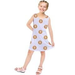 Bitcoin Logo Pattern Kids  Tunic Dress