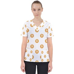 Bitcoin Logo Pattern Scrub Top