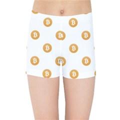 Bitcoin Logo Pattern Kids Sports Shorts