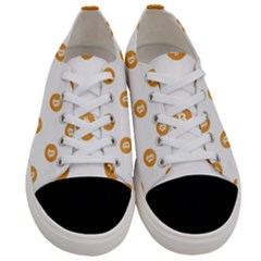 Bitcoin Logo Pattern Women s Low Top Canvas Sneakers