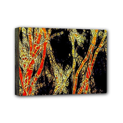 Artistic Effect Fractal Forest Background Mini Canvas 7  X 5
