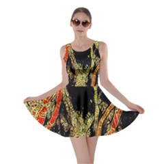 Artistic Effect Fractal Forest Background Skater Dress
