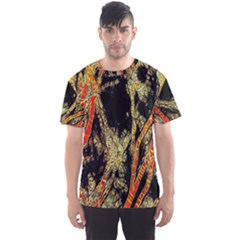 Artistic Effect Fractal Forest Background Men s Sports Mesh Tee