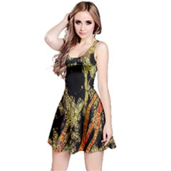 Artistic Effect Fractal Forest Background Reversible Sleeveless Dress