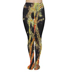 Artistic Effect Fractal Forest Background Women s Tights