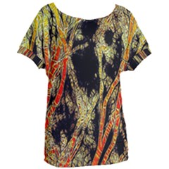 Artistic Effect Fractal Forest Background Women s Oversized Tee