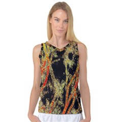 Artistic Effect Fractal Forest Background Women s Basketball Tank Top