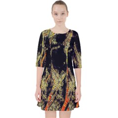 Artistic Effect Fractal Forest Background Pocket Dress
