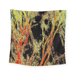 Artistic Effect Fractal Forest Background Square Tapestry (small)