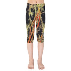 Artistic Effect Fractal Forest Background Kids  Capri Leggings