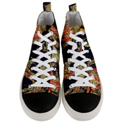 Artistic Effect Fractal Forest Background Men s Mid Top Canvas Sneakers