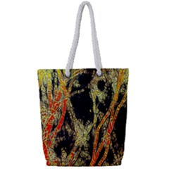 Artistic Effect Fractal Forest Background Full Print Rope Handle Tote (small)