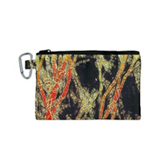 Artistic Effect Fractal Forest Background Canvas Cosmetic Bag (small)