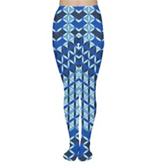 Flower Of Life Pattern Blue Women s Tights
