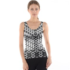 Flower Of Life Grey Tank Top