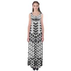 Flower Of Life Grey Empire Waist Maxi Dress