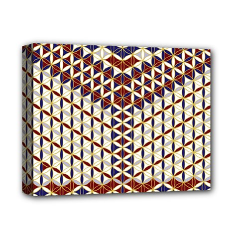 Flower Of Life Pattern Red Blue Deluxe Canvas 14  X 11