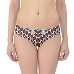 Flower Of Life Pattern Red Blue Hipster Bikini Bottoms