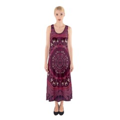 Leather And Love In A Safe Environment Sleeveless Maxi Dress