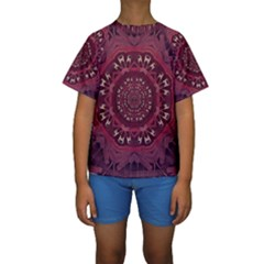 Leather And Love In A Safe Environment Kids  Short Sleeve Swimwear