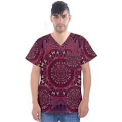 Leather And Love In A Safe Environment Men s V Neck Scrub Top