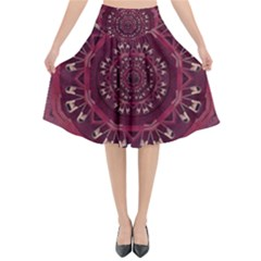 Leather And Love In A Safe Environment Flared Midi Skirt