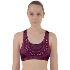 Leather And Love In A Safe Environment Back Weave Sports Bra