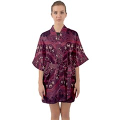 Leather And Love In A Safe Environment Quarter Sleeve Kimono Robe